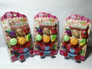 3 Packs of Hany Ki Plastic Mini Vegetable Toys Package Set
