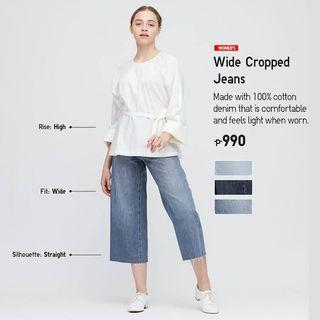 BNWT UNIQLO Wide Cropped Jeans