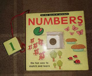 Busy block book about numbers