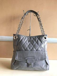 Coach Brand Poppy Liquid Gloss Quilted Patent Leather