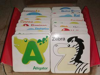 Early education wooden A to Z card