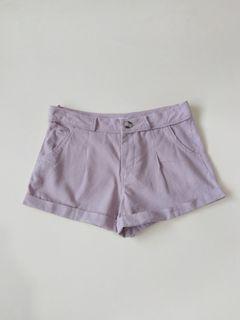 Linen Blend Pastel Pink Short