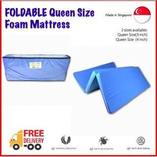 Queen Foldable Mattress with removable cover