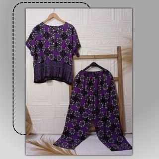 Setelan Piyama Batik Jumbo Busui