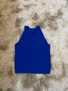 Shein Ribbed Royal Blue Top