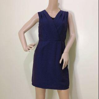Size S Office Dress Dark Purple with Inner Lace