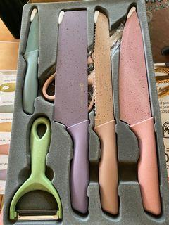 Corrugated Kitchen Knife Set Of 6Pieces