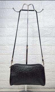 Fuguiya Ostrich Skin Embossed Bag