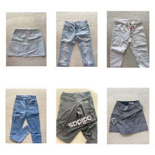 Jeans skirt leggings murah