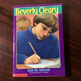 Newbery Medal  Book: Dear Mr. Henshaw by Beverly Cleary