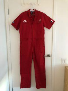 Nike SB x Parra French Federation Kit Skate Coveralls, Red