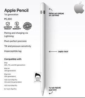 Original Apple Pencil 1st Gen with O.R. 1yr Local Warranty