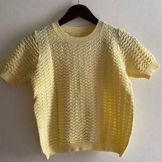 Yellow Knit Top NEW