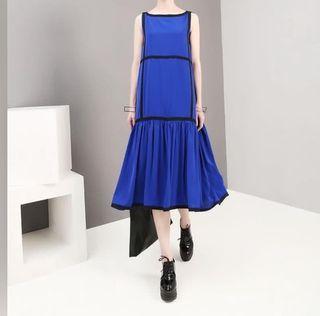全新雪紡寶藍色洋裝