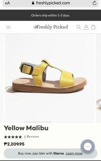 ❤️ FRESHLY PICKED Yellow Leather Sandals