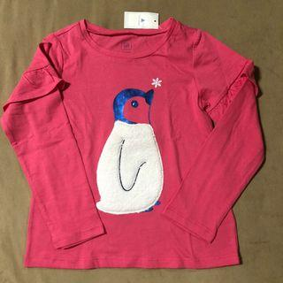 Authentic Baby Gap double-knit graphic ruffle tee