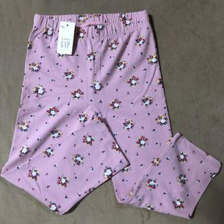 Authentic Gap pink floral crop leggings for girls