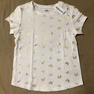Authentic Old Navy white butterfly shirt