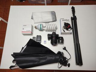 Canon M50 + Viltrox Speedbooster M2 + lens + freebies