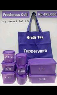 Freshness collection ungu Tempat penyimpanan bumbu Tupperware
