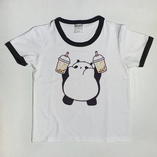 Kids T-Shirt with Panda &Milk Tea