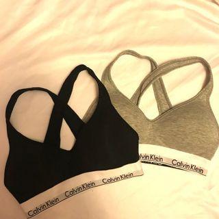 黑L、灰L 都有 美國正品 Calvin Klein CK 襯墊運動內衣 有墊