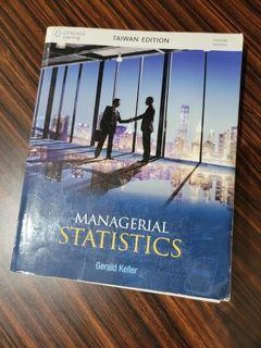【二手/不拆賣】MANAGERIAL STATISTICS (Gerald Keller)  統計學用書 上下冊