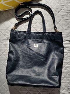 Porter International blue/gray tote bag