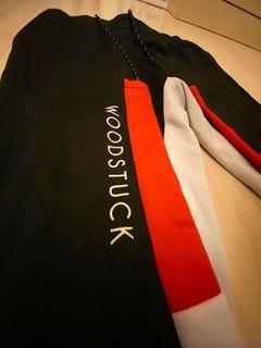 Woodstuck 運動長褲 紅黑白