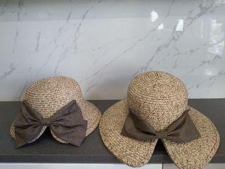 防曬遮陽帽2頂(一大一小)/親子帽