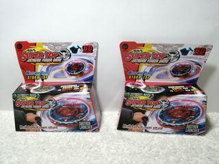 2 Sets of Super Top Beyblade with Light, Toys Package