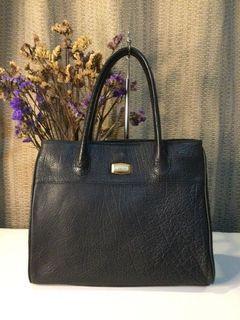 Esquire… Black Textured Soft Leather Handbag