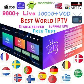 Iptv over 10000 live channel all sports events 12 months subscription