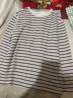 Korean Look Sweatshirt Stipes