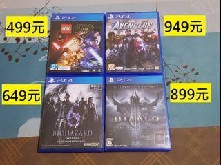 PS4漫威復仇者聯盟、暗黑破壞神3奪魂之鐮、樂高星際大戰、惡靈古堡6