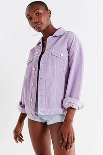 repriced! urban outfitters lilac curduroy jacket