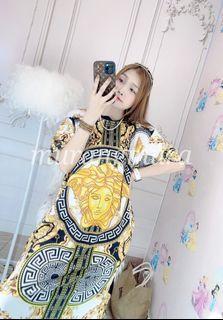 Versace Long Dress w/ pockets