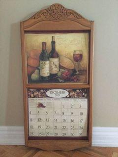 Wooden Calendar  Holder Frame(30 inches tall and 14 1/2 inches wide)
