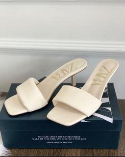 ZARA Beige Heeled Sandals