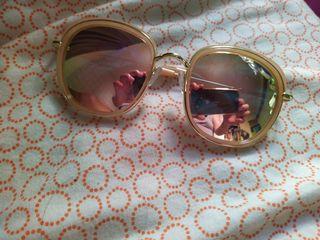 玫瑰金粉橘色墨鏡
