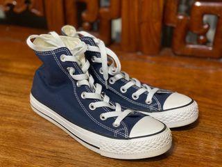 海軍藍高筒帆布鞋 24cm