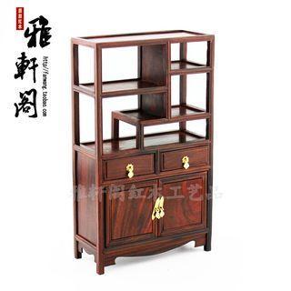 紅酸枝多寶架橱  小書橱微缩家具紅木工藝品 尺寸13.5*5.5*23公分 居家 辦公室裡擺設 🤑1250元。     🚚100元