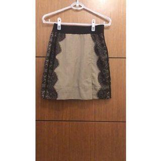 睫毛蕾絲窄裙 半身裙 (彈性腰圍)