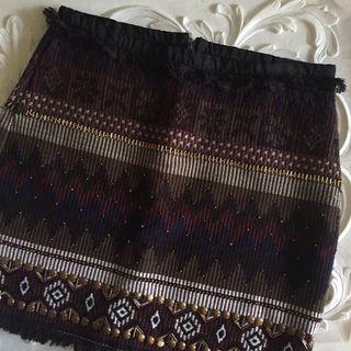 Bershka tweed skirt