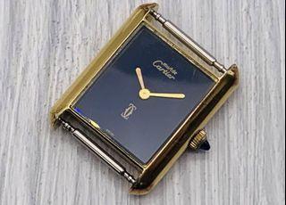 真品Cartier must 18K gold ERECTROPLATED 手巻 for lady