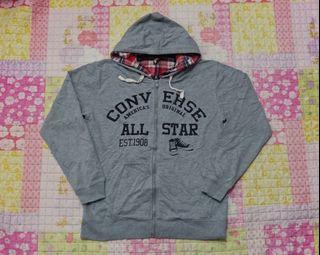 Converse Sweatshirt Hoodie Zipper