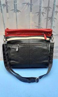 CROOS BODY LEATHER BAG by  P&H
