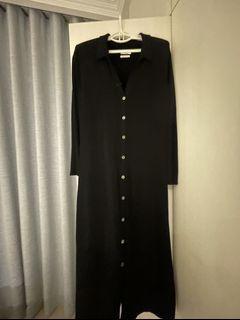 DEVEAUX  NEW  YARK ,黑色針織洋裝可當罩衫,9.5新