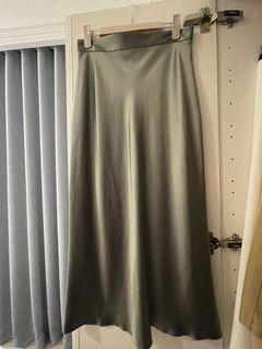DEVEAUX New YORK緞面綠色裙,9.5新