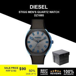 Diesel Stigg black and gray nylon watch DZ1885
